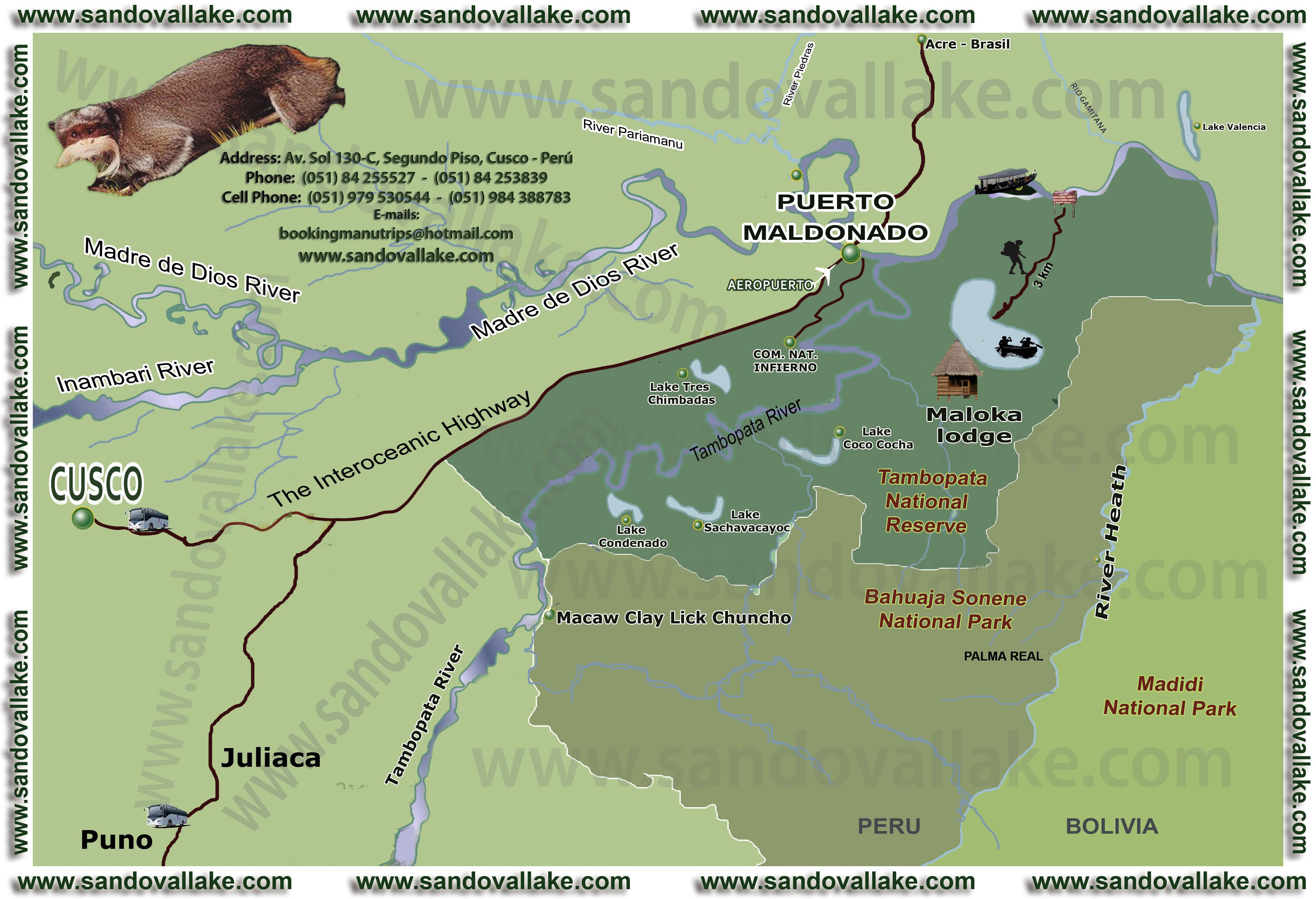 sandoval lake maloka lodge reserve tambopata